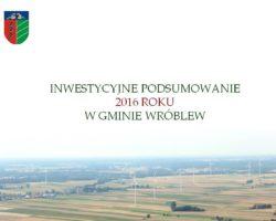 Gmina Wróblew: Podsumowanie roku 2016