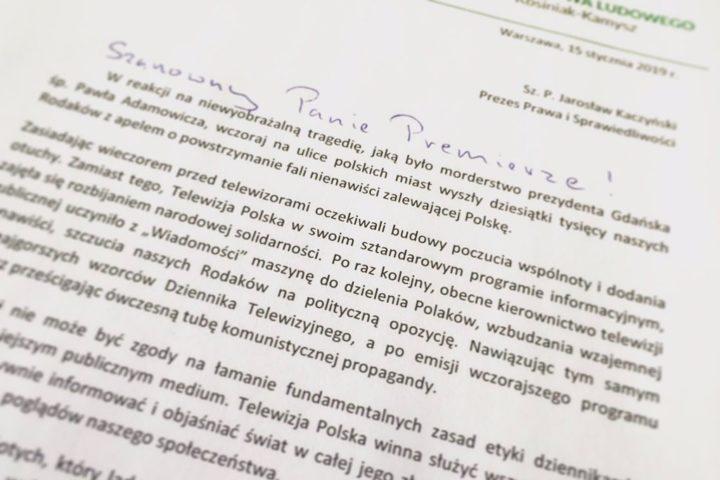 Ludowcy mówią: dość! Apel o odwołanie prezesa TVP Jacka Kurskiego