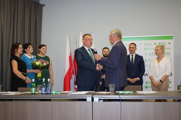 Mariusz Bądzior ponownie wybrany prezesem sieradzkiego PSL